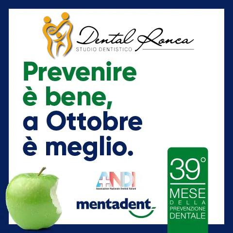 Ottobre è il mese della Prevenzione Dentale con visita gratuita
